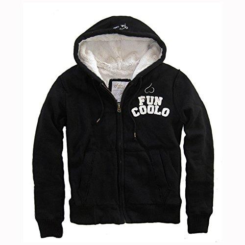 Fun Coolo giacca invernale con cappuccio e zip MH5 nero L