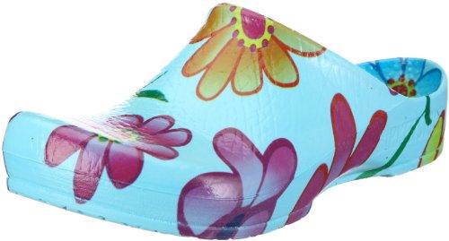 Birki Unisex - Adults KLASSIK Ciel Blue Flower 67811 Clogs & Mules Blue EU 37