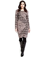 Per Una Pure Cotton Floral Knitted Tunic Dress