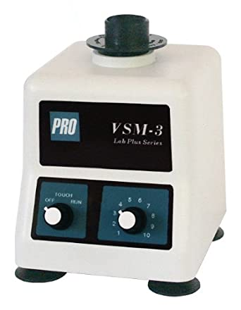 "PRO Scientific 560000-00 VSM-3 Variable Speed Vortex Mixer with 3"" Platform Head and Single Tube Cap, 115V, 3000rpm"