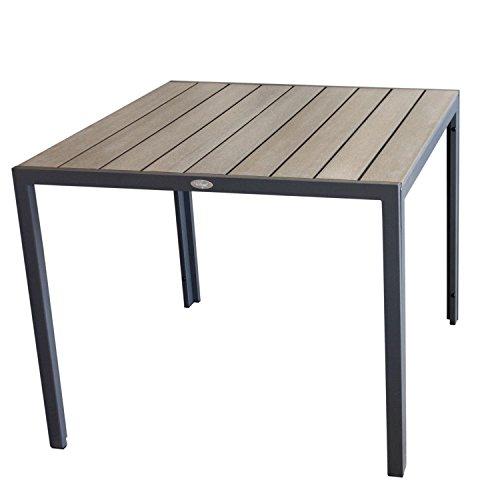Aluminium-Gartentisch-90x90cm-Esszimmertisch-Esstisch-Kchentisch-Alutisch-Aluminiumtisch-mit-Polywood-Non-Wood-Tischplatte