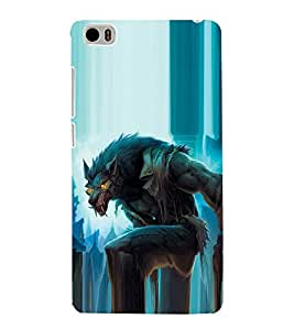 99Sublimation wolf with Anger in Eyes 3D Hard Polycarbonate Back Case Cover for Xiaomi Mi 5 :: Redmi Mi5