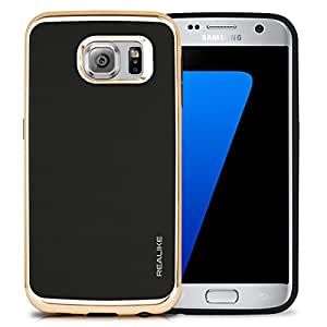 REALIKE™ Premium Shock Proof Protective Dual Layer Case for Samsung Galaxy S7, SKYFALL Series, Gold