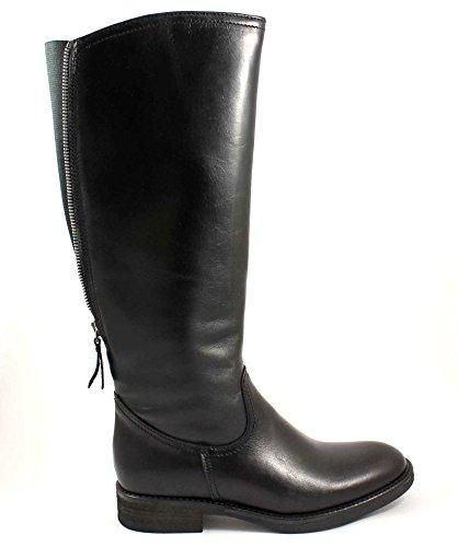 GRUNLAND GIò MISE ST0310 nero stivali donna cavallerizza zip polpaccio 37