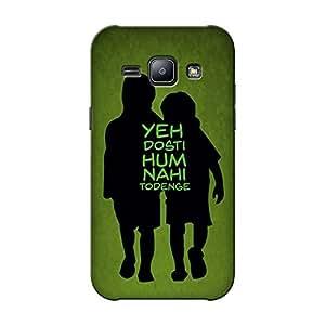 Abhivyakti Love Dosti Hard Back Case Cover For Samsung J1