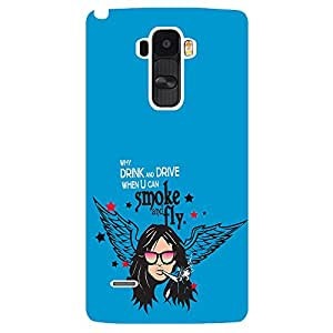 Why drink and drive when u can smoke and fly - Mobile Back Case Cover For LG G4 STYLUS
