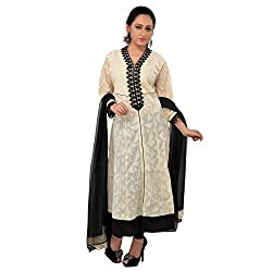 Darbari Women's Cotton Kameez (OL-294_Off-White_Xl)