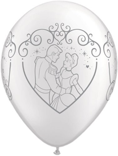 "Single Source Party Suppies - 11"" Cinderella & Prince Charming Latex Balloons - Bag of 10 - 1"