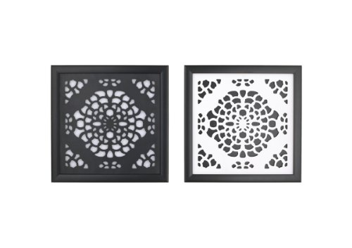 CoCaLo Elsa Framed Wall Art, Black/White, 2 Piece - 1
