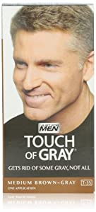 Just For Men Touch Of Gray, Medium Brown-Gray, 1 Application (Pack of 3)