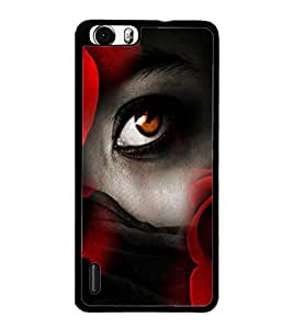 PrintDhaba Eye D-2977 Back Case Cover for HUAWEI HONOR 6 PLUS (Multi-Coloured)