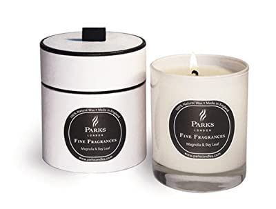 Magnolia And Bay Leaf - Fine Fragrances Luxury Scented Wax Candle - Parks Candles - Gift Boxed