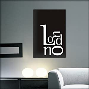 Tableau decoratif design de londres noir et blanc deco - Tableau decoratif design ...