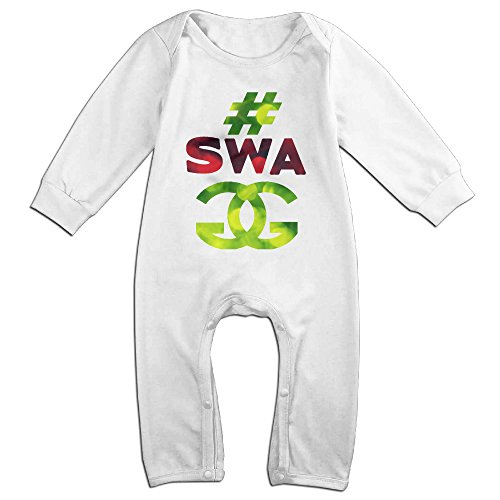 Posit-Babys-Swag-Boys-Girls-Kids-Creeper-Romper-Bodysuits-Jumpsuits-Size-US-White