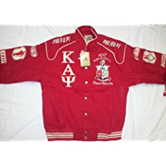 Buy New Red Centennial Kappa Alpha Psi Snap up Fraternity Racing Style Jacket by Big Boy Gear