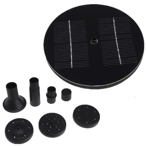 Solar Power Garden Fountain Pool Water Pump with 3 different Spray Heads