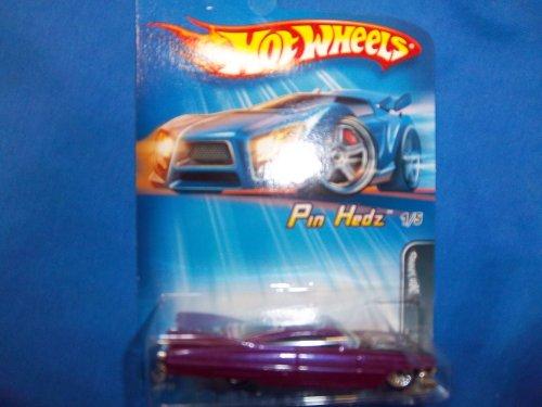 Hot Wheels 2005-091 Purple Pin Hedz 1/5 1959 CadIllac MALAYSIA 1:64 Scale - 1
