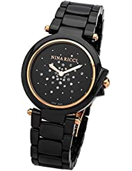 Nina Ricci Rose Gold Black CER CAS Black DIA DMD Black CER Rose Gold BRT