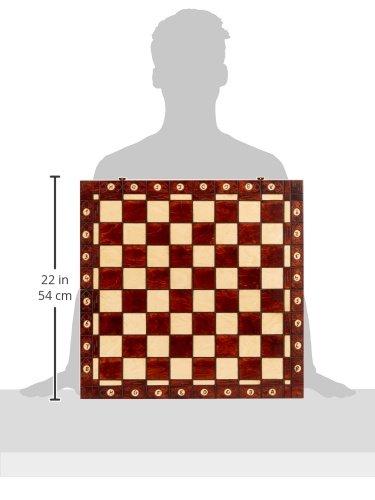Ambassador Handmade Wooden Chess Set w/ 21 Inch Board and Detailed Chessmen 4