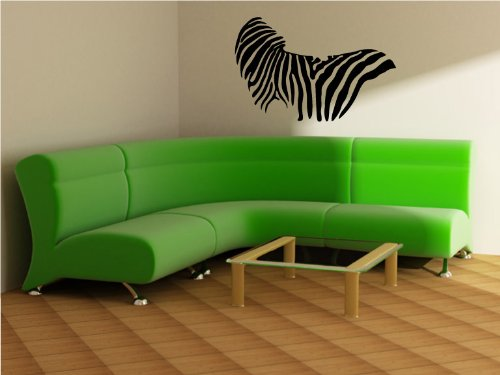Zebra Pattern Body - Modern Living Room Vinyl Wall Art Decal Sticker Decor