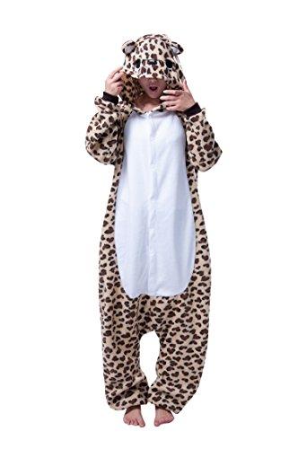 Keral Kigurumi Pigiama Adulto Anime Cosplay Halloween Costume Attrezzatura_Leopardo_S