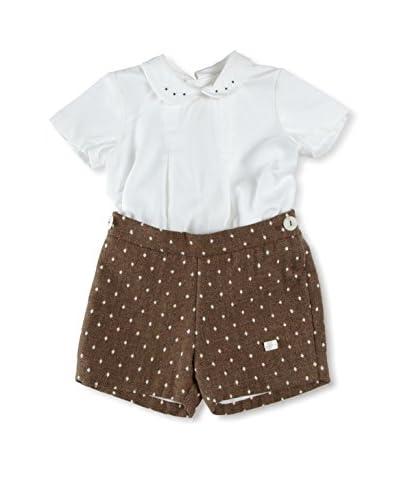 Elisa Menuts Coordinato Baby  Camicia+Pantaloncino