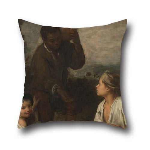 20 X 20 Inch / 50 By 50 Cm Oil Painting Murillo, Bartolomé Estéban - Three Boys Throw Pillow Covers,each Side Is Fit For Couples,family,play Room,wife,kids Girls,club