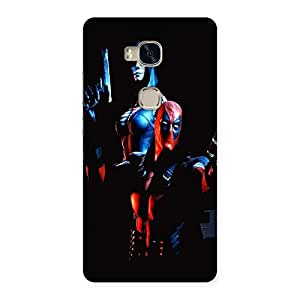 Ajay Enterprises Red Hero Action Back Case Cover for Huawei Honor 5X