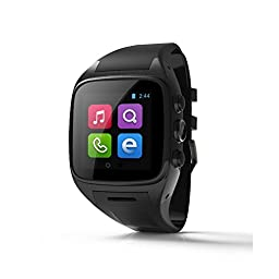 Hwnet 3G Android Watch With Wifi For Android (Full Functions) Samsung HTC Sony LG,iphone 5/5C/5S/6/6 Plus(Partial Functions) (Black)