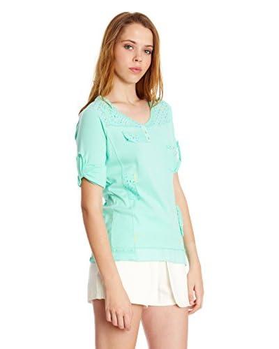 Sidecar T-Shirt Manica Corta Genoveva [Verde Acqua]