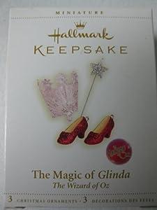 2006 Hallmark Ornament The Wizard of Oz The Magic of Glinda Set of 3 Miniature Ornaments