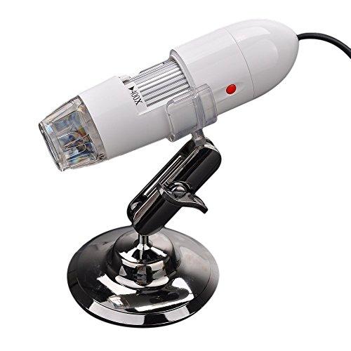 Microscope T01 T01-400Tv 25X-400X Av/Tv Port Camera Handheld 8-Led White Light Digital Microscope Magnifier With Us Plug- White