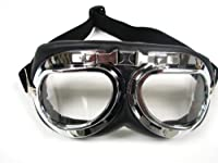 WWII RAF Aviator Pilot Motorcycle Half helmet Goggles (TMS-33-6) from T-Motorsports