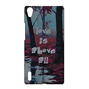 Gaffar Mobile Night Glow Hard Back Cover for Huawei Ascend P7