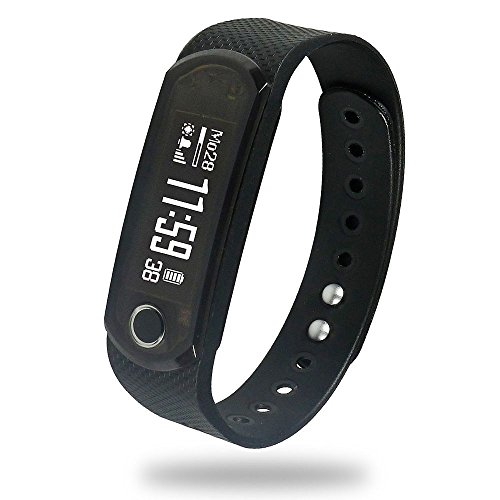 Jarv Elite IPX7 water resistant Fitness Tracker Activity Band and Smart Watch with OLED Display, Bluetooth Wireless Sync and 10 Day Battery [NEW 2016 UPDATED VERSION NOW SHIPPING]