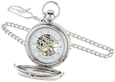Charles-Hubert Pocket Watch 3847 Chrome Plated Picture Frame Hunter