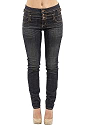 Eunina Jeans Women's Plus Size High Waisted Stretch Skinny Jean (3 Wash Options)