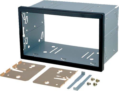 Universall-Doppel-DIN-Einbauschacht-Metal-Autoradio-Radio-Einbaurahmen-2DIN