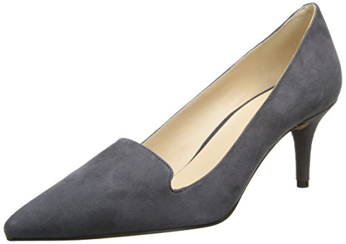 Nine West Womens Mafalda Suede Dress Pump,Dark Grey,9