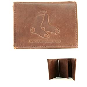 MLB Officially Licensed Genuine Leather Embossed Boston Red Sox Wallet by Rico