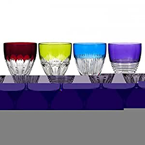 Waterford mixology colored all purpose set of 4 champagne glasses - Waterford colored wine glasses ...