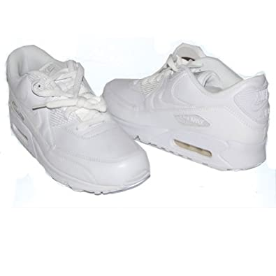 NIKE Air Max 90 Mens Leather Running Shoes White Casual Classic