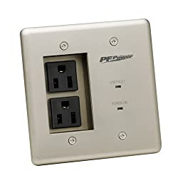 Panamax MIW-POWER-PRO-PFP Power Outlet Faceplate - Silver