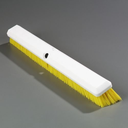 """Carlisle 4189104 Sparta Spectrum Omni Sweep Floor Sweep, Synthetic Bristles, 24"""" Overall Length, Yellow front-63259"""