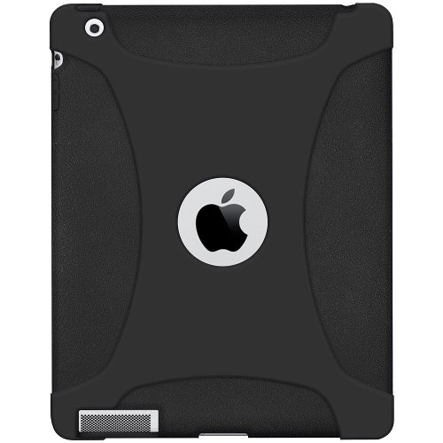 Imagen de Silicona Jelly Funda Skin Fit Amzer para Apple iPad 2 y iPad 3 - Negro