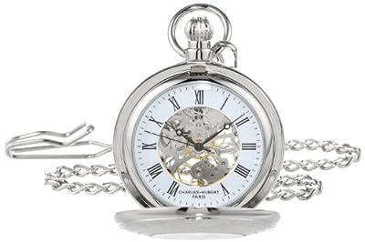 Charles-Hubert Pocket Watch 3527-W Chrome Plated Hunter