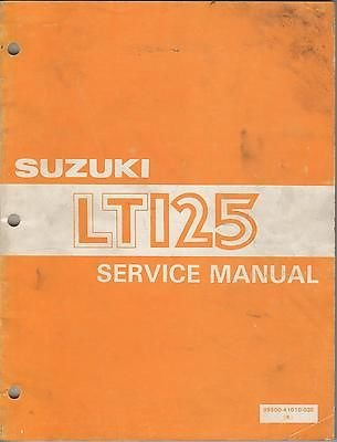 1983 Suzuki Four Wheeler Atv Lt125 P/N 99500-41010-03E Service Manual (312) front-955403