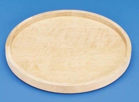 Hardware Distributors RS4WLS001.32.B52 32 in. Full Circle Wood Classic Single Shelf - with Bearing Corner Lazy Susans