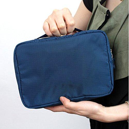 Contever® moda Donna Borsa da Viaggio Sacchetto della lavata Pacchetto multifunzionale bagagli Trucco Cosmetici Organizer Tasca -- Blu Scuro