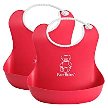 BabyBjorn Soft Bib, 2 Count - Red/Red